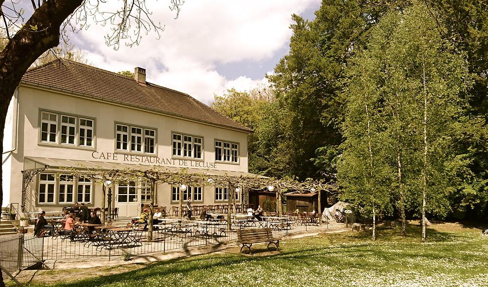 Café Restaurant de l'Ecluse, Biel mit Terrasse