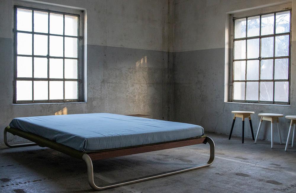 Stahlblau-Möbel
