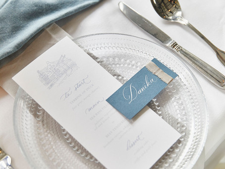 Sparkling Dusty Blue Wedding