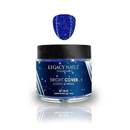 Polvo Acrilico Legacy Nails Bright Cover Sky Blue 56 gr