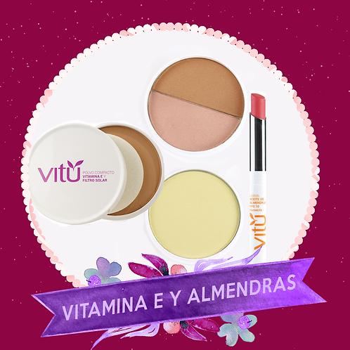 Kit Maquillaje con Vitamina E y Almendras VITÚ