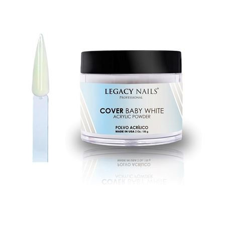 Polvo Acrilico Legacy Nails Cover Baby White 56 gr