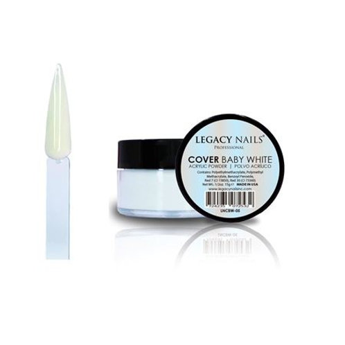 Polvo Acrilico Legacy Nails Cover Baby White 15 gr
