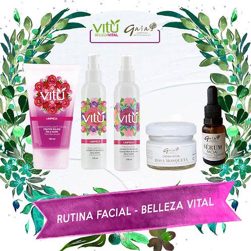 Kit de Rutina Facial - Belleza Vital 5 Pasos