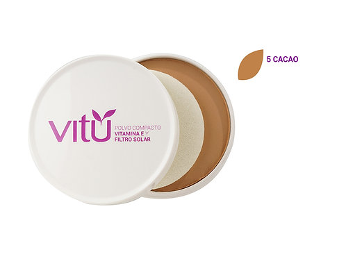 Polvo Compacto Vitamina E y Filtro Solar