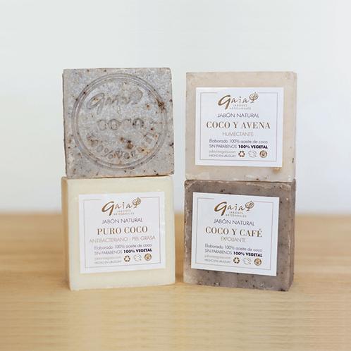 Jabón corporal a base de aceite 100%  Coco GAIA