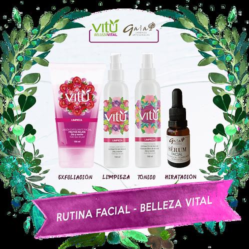 Kit de Rutina Facial - Belleza Vital 4 Pasos