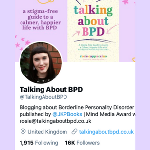 Twitter @TalkingAboutBPD