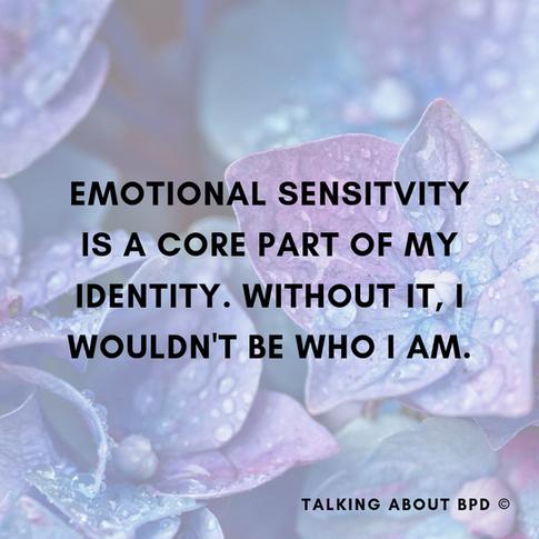 Being Emotionally Sensitive
