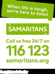 Samaritans Call Us free 24/7 on 116 123