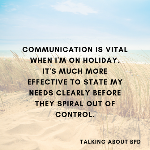 3 Tips for Managing BPD on Holiday