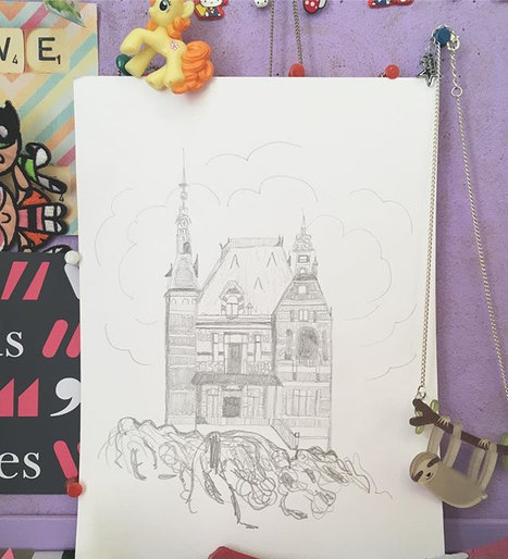 drawing the captivating & spooky house f