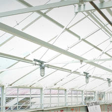 Galvanized steel and iron greenhouse frame