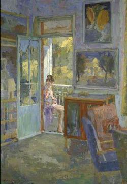 Figure by Window