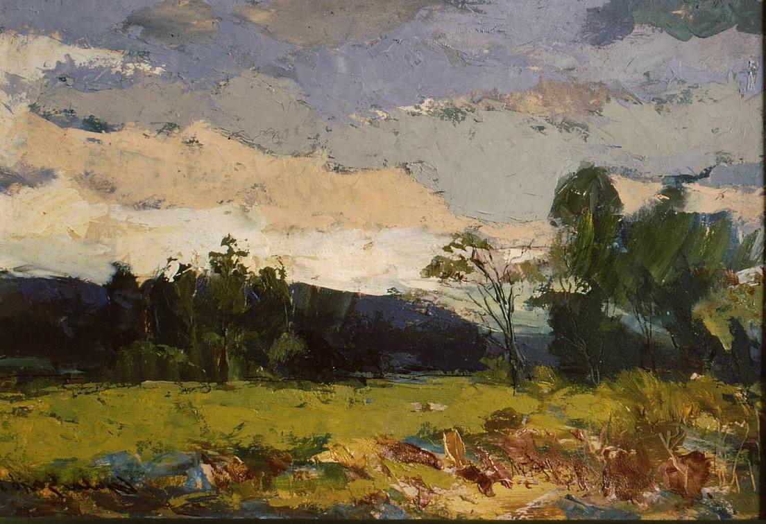 Landscape at Dusk, Gyula Sajo