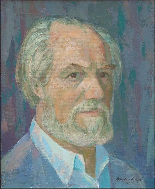 Self Portrait 1983 Gyula Sajo Hungarian Artist
