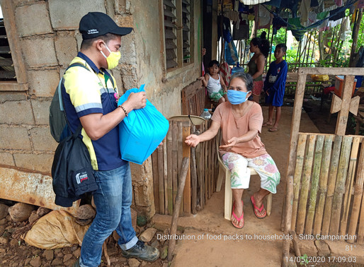 Food packs worth P 1.6M distributed by Hinatuan Mining Corp. to host communities