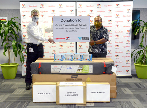 ExxonMobil PNG supports Central Provincial Health Authority preparedness