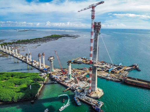 Contractors Finish Main Bridge Pylons for Cebu-Cordova Link Expressway