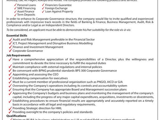 Moni Plus Seeks Independent Directors