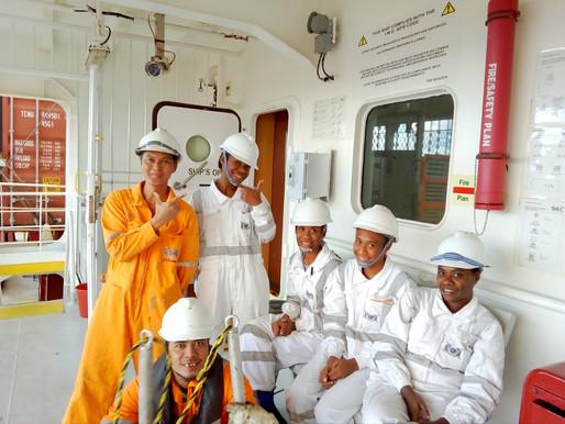 Female maritime cadets aim high on the high seas