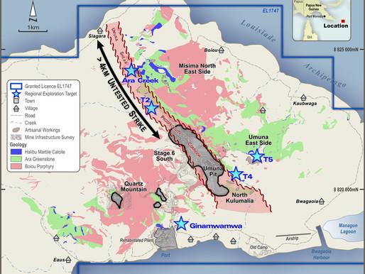 KSN Restarts Drilling on Misima Gold Project