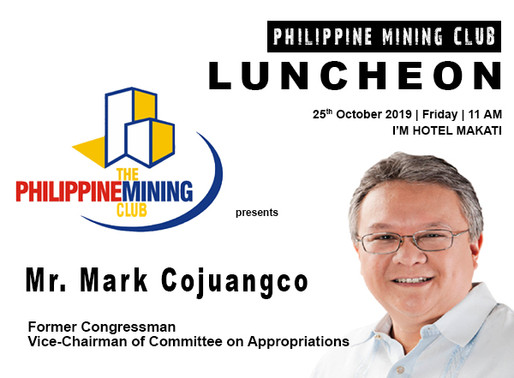 Usec. Bayani H. Agabin and  Mark Cojuangco at the PMC Luncheon | 25th October 2019