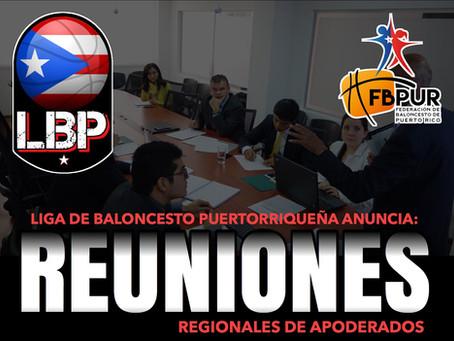 La Junta de Directores de la LBP anuncia las fechas de reuniones de apoderados por Región.