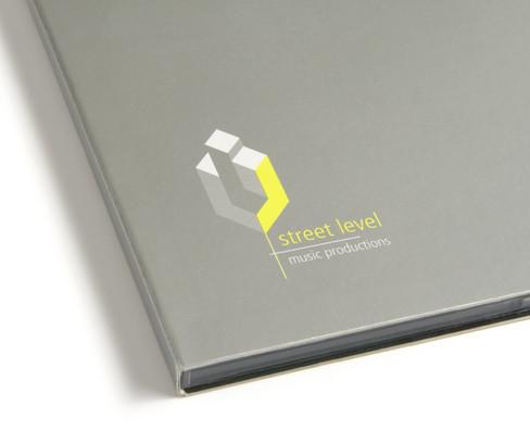 Street Level music studio branding and print production.