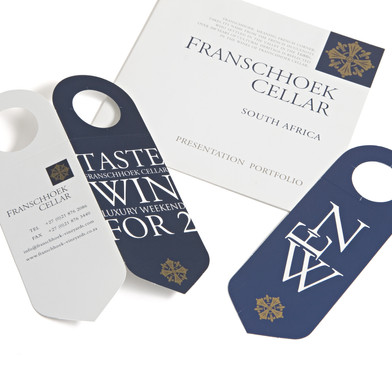 Franschhoek Cellar promotional leaflet design and print production.