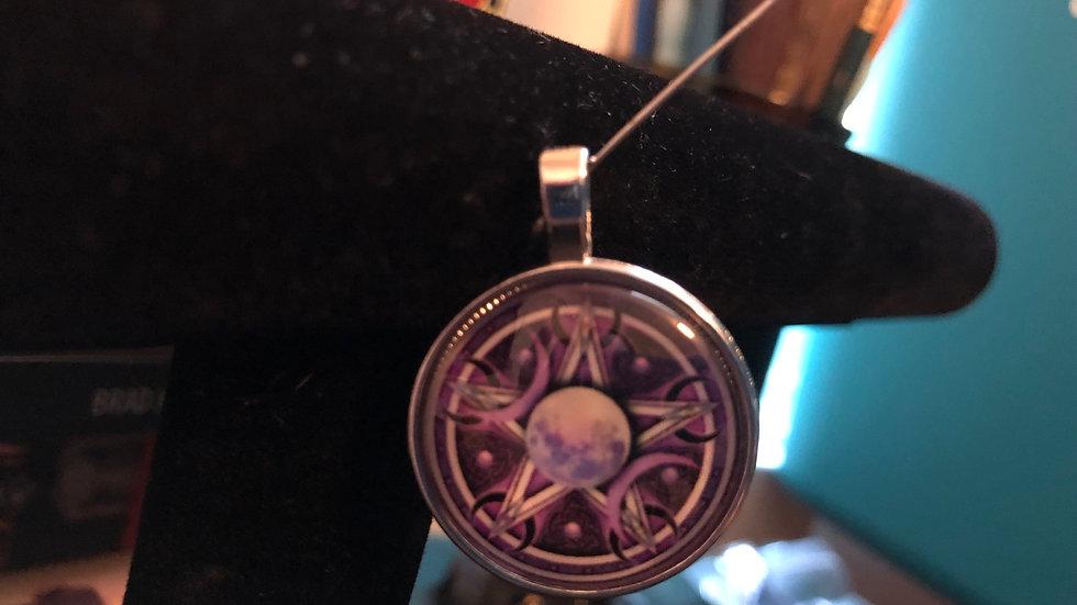 Purple Pentagram Charm