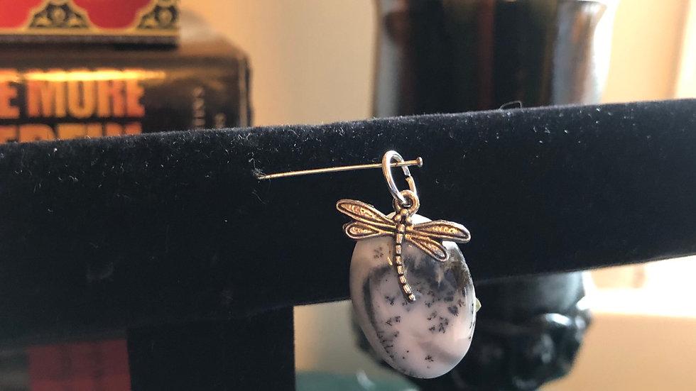 Dendritic Opal Fire Fly Pendant