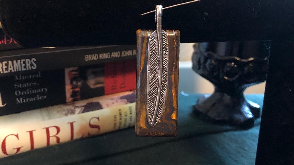 Tigeriron Feather Pendant