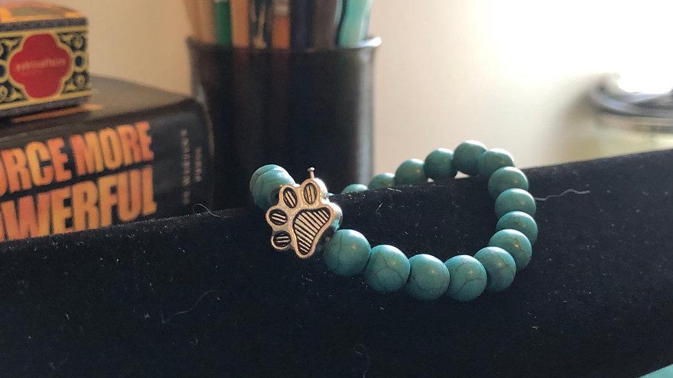 Blue Dyed Magnesite Pet Bracelet