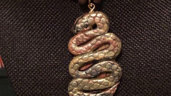 Clay Snake Beaded Necklace