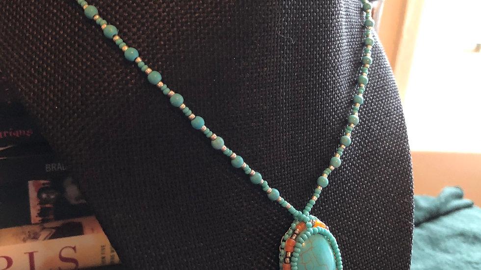 Beaded Magnesite Necklace