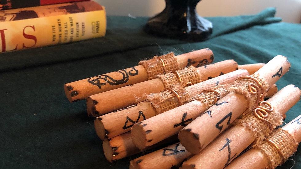 Wooden Stick Runes