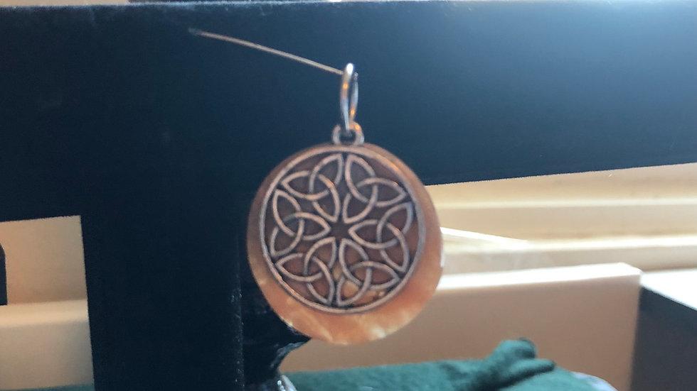 Calcite Celtic Knot Pendant