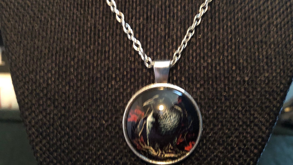 Raven Necklace with Chain
