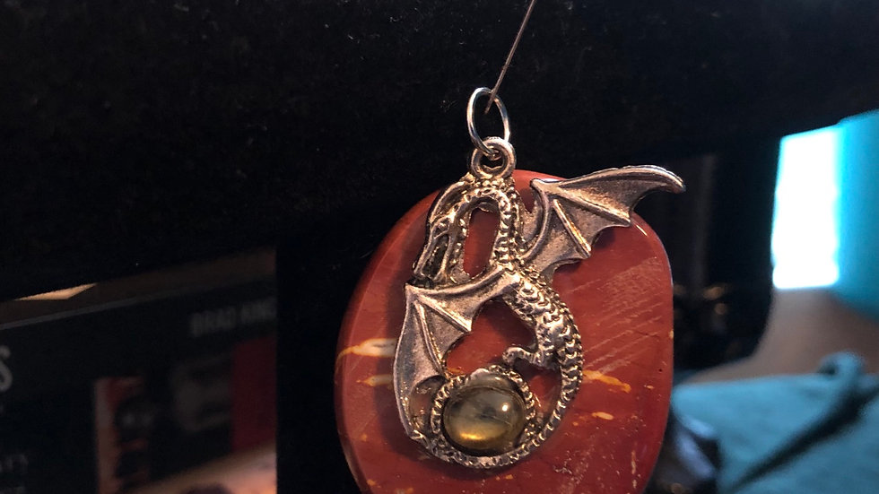 Moonakite and Labadorite Dragond Pendant