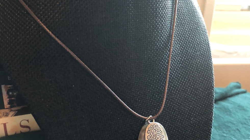 Crab Agate Tree of Life Necklace