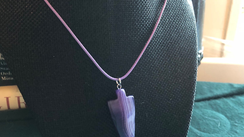 Banded Agate Arrow Necklace