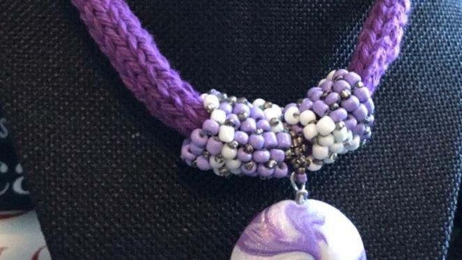 Purple Clay Necklace