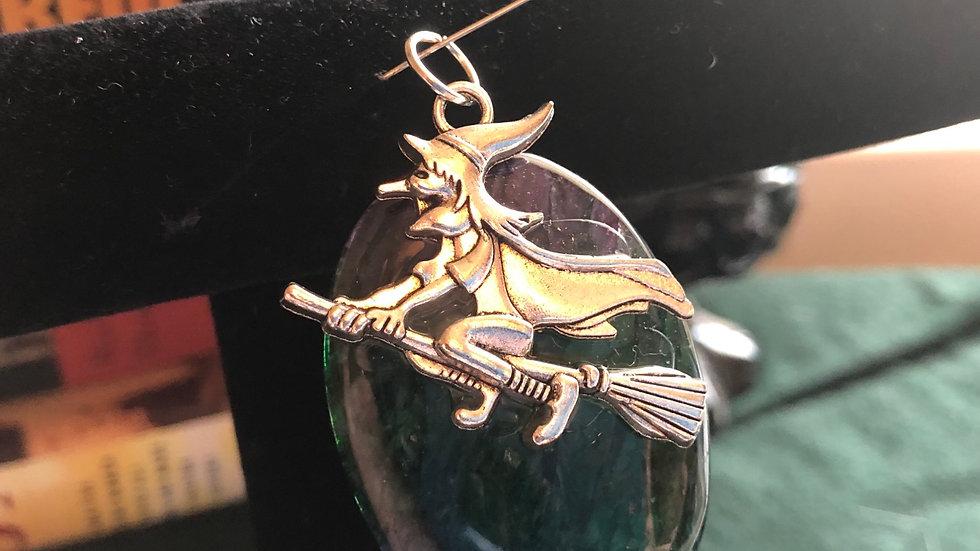 Dragonvein Agate Witch Charm