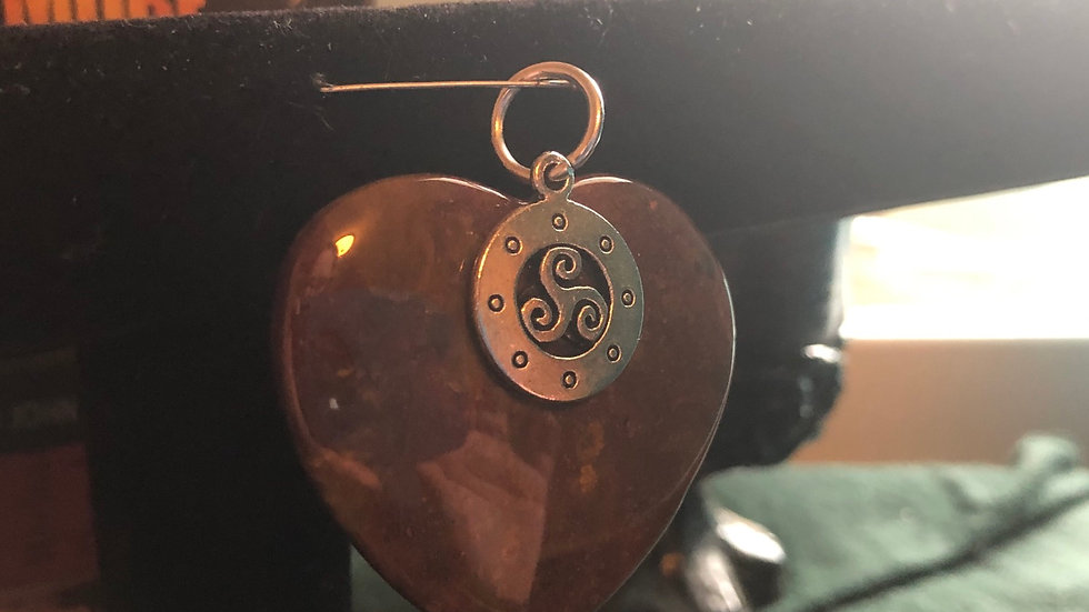 Red Moss Agate Triskele Pendant