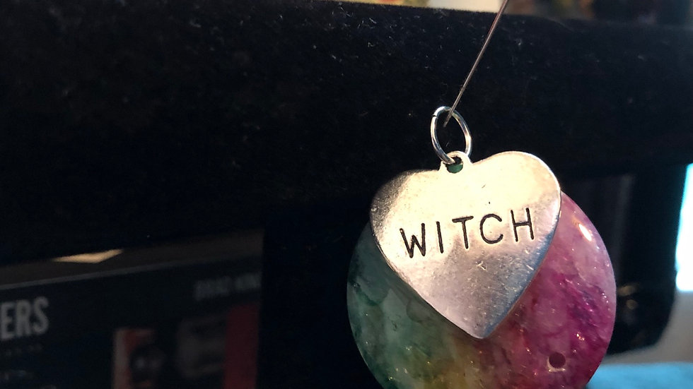 Dyed Dragonvein Witch Pendant