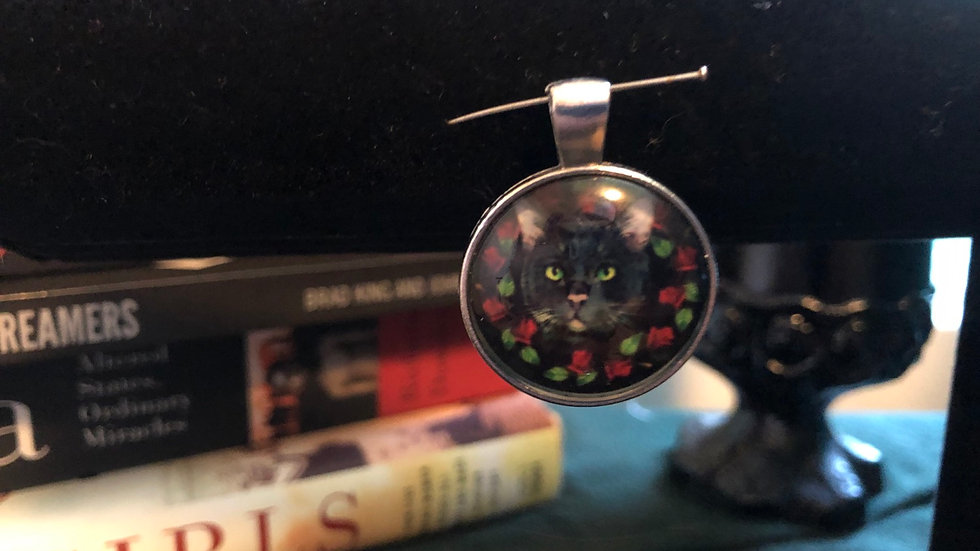Cats and Roses Pendant