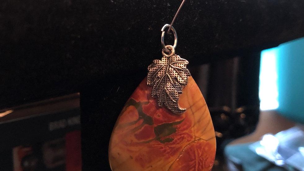 Picasso Jasper Leaf Pendant
