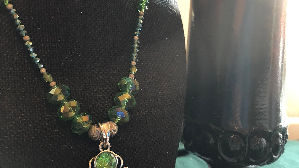 Beaded Two Birds Necklace