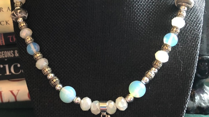 Silver and Quartz Beaded Necklace
